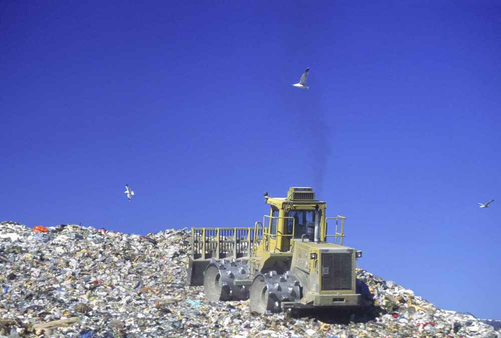 Capturing methane from landfill