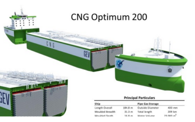 CNG Delivery By Boat is Coming Soon with 200mscf CNG Carrier